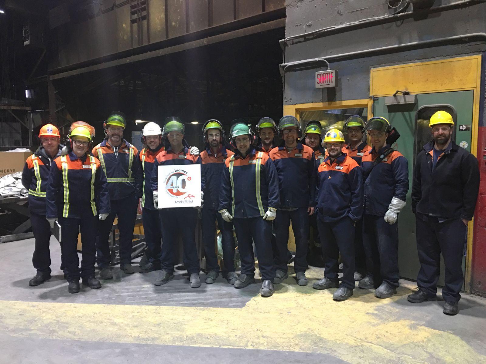 ArcelorMittal célèbre le 40e anniversaire de la production de